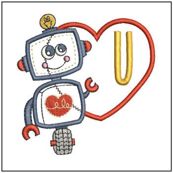 Robot Applique ABCs - U - Embroidery Designs