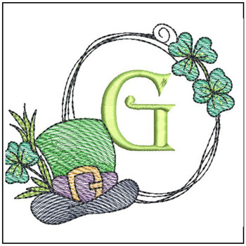 Shamrock ABCs - G - Embroidery Designs