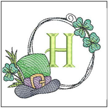 Shamrock ABCs - H - Embroidery Designs