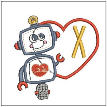 Robot Applique ABCs - X - Embroidery Designs