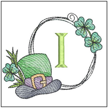 Shamrock ABCs - I - Embroidery Designs