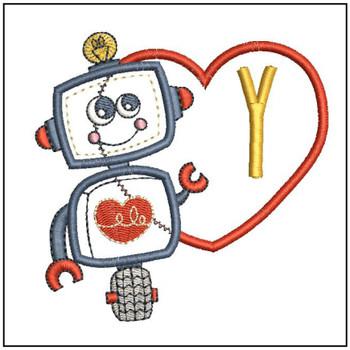 Robot Applique ABCs - Y - Embroidery Designs