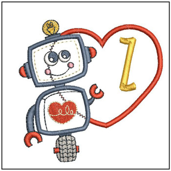 Robot Applique ABCs - Z - Embroidery Designs