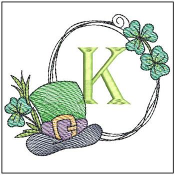 Shamrock ABCs - K - Embroidery Designs