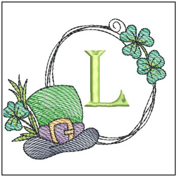 Shamrock ABCs - L- Embroidery Designs