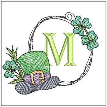 Shamrock ABCs - M - Embroidery Designs