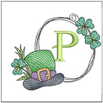 Shamrock ABCs - P - Embroidery Designs