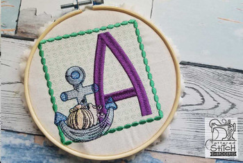 Sea Anchor ABCs - A - Embroidery Designs