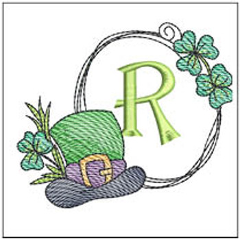 Shamrock ABCs - R - Embroidery Designs