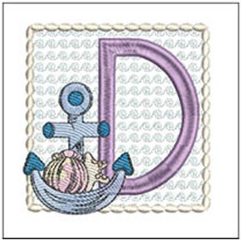 Sea Anchor ABCs - D - Embroidery Designs