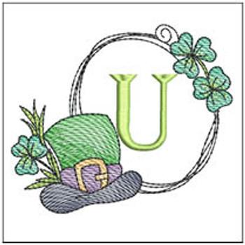 Shamrock ABCs - U - Embroidery Designs