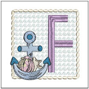 Sea Anchor ABCs - F - Embroidery Designs
