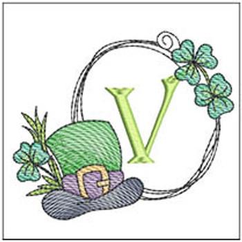 Shamrock ABCs - V - Embroidery Designs