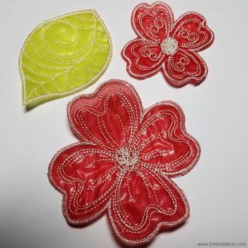 Gardenia Bloom 3D -In the Hoop - Embroidery Designs