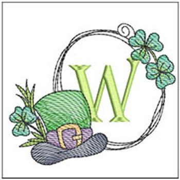 Shamrock ABCs - W - Embroidery Designs
