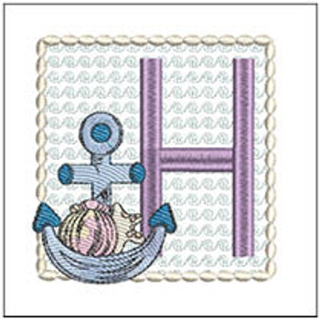 Sea Anchor ABCs - H - Embroidery Designs