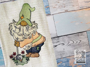 "Golfer Gnome - Fits a 4x4"" 5x7"" &  6x10"" Hoop - Machine Embroidery Designs"