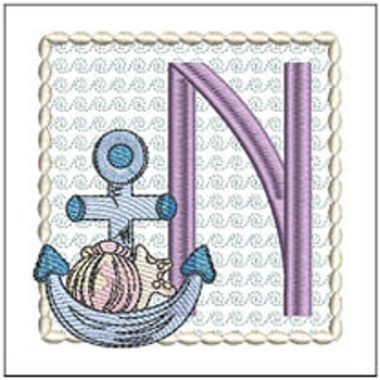 Sea Anchor ABCs - N - Embroidery Designs