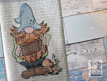 """Accordian Gnome Fits a 4x4"""" 5x7"""" &  8x8"""" Hoop - Machine Embroidery Designs"""