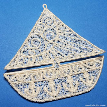 Sailboat - Free Standing Lace - Embroidery Designs