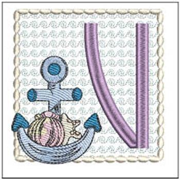 Sea Anchor ABCs - V - Embroidery Designs