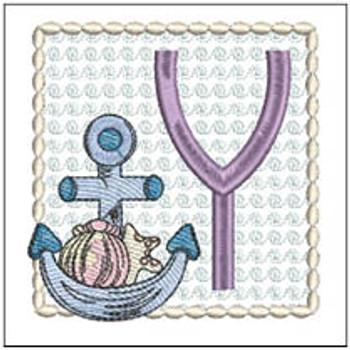 Sea Anchor ABCs - Y - Embroidery Designs