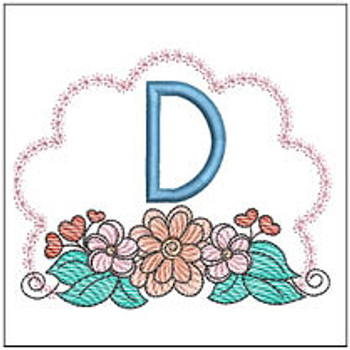 Wildflower ABCs - D - Embroidery Designs