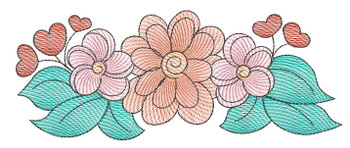 "Wildflower Cluster - Fits a 4x4"",  5x7"" &  8x8"" Hoop - Machine Embroidery Designs"
