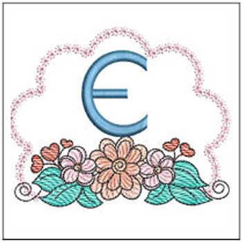 Wildflower ABCs - E - Embroidery Designs