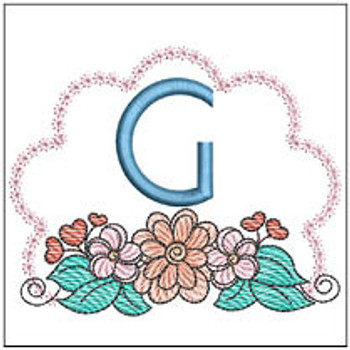 Wildflower ABCs - G - Embroidery Designs