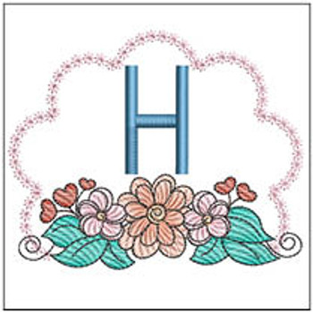Wildflower ABCs - H - Embroidery Designs