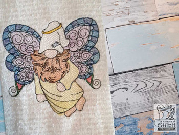 """Boy Angel Gnome Fits a  4c4"""", 5x7"""" &  8x8"""" Hoop - Machine Embroidery Designs"""