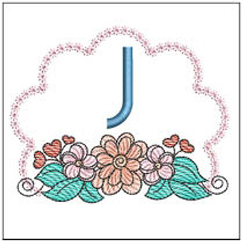 Wildflower ABCs - J - Embroidery Designs