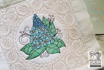 """Bluebell Cluster Quilt Block - Fits a  5x7"""",6x10"""" & 8x8"""" Hoop - Machine Embroidery Designs"""