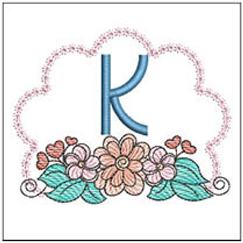 Wildflower ABCs - K - Embroidery Designs