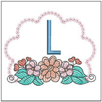 Wildflower ABCs - L - Embroidery Designs