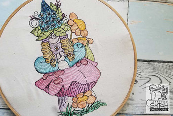 """Bluebell Gnome Fits a  5x7"""" &  8x8"""" Hoop - Machine Embroidery Designs"""