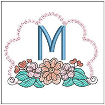 Wildflower ABCs - M - Embroidery Designs