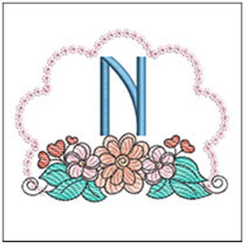 Wildflower ABCs - N - Embroidery Designs