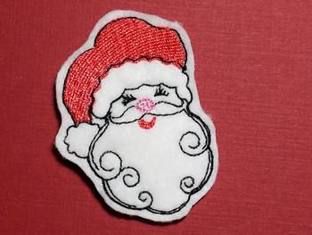Jolly Old Santa Feltie - Embroidery Designs