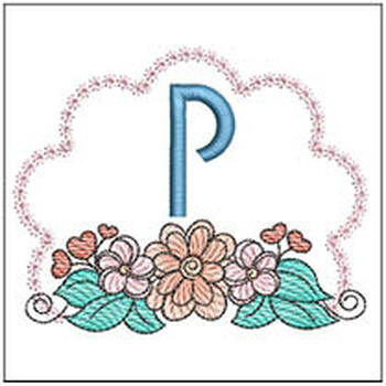 Wildflower ABCs - P - Embroidery Designs