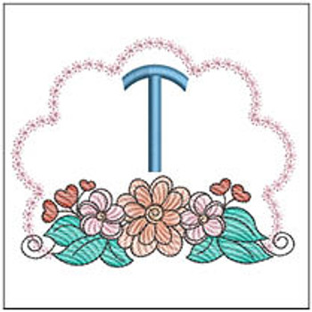 Wildflower ABCs - T - Embroidery Designs