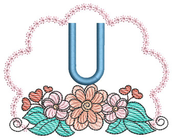 Wildflower ABCs - U - Embroidery Designs