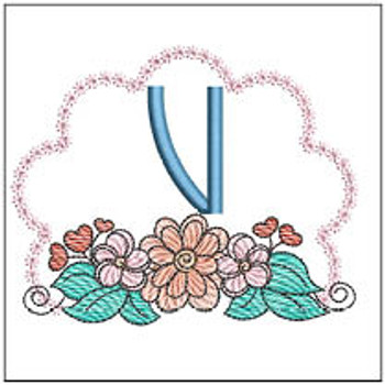 Wildflower ABCs - V - Embroidery Designs