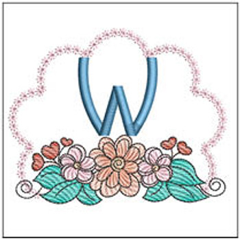 Wildflower ABCs - W - Embroidery Designs
