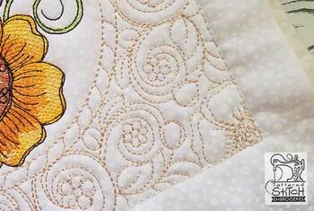 "Open Center Quilt Block-Fits a  5x5"", 6x6"", 7x7"", 8x8"" & 10x10""  Hoop - Machine Embroidery Designs"
