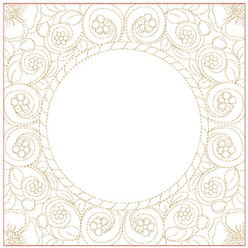 "Open Center Quilt Block-Fits a  5x5"", 6x6"", 7x7"", 8x8"" & 10x10""  Hoop - Machine Embroidery Designs"