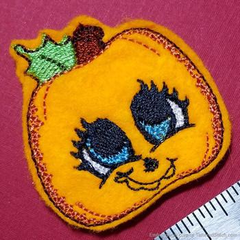 Adorable Pumpkin Feltie - Embroidery Designs