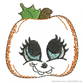 Adorable Pumpkin Feltie - Embroidery Designs
