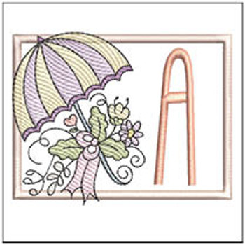 Umbrella Applique ABCs - A - Embroidery Designs
